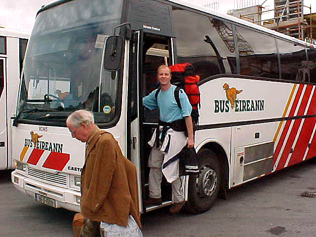 Onno paid for the bus up to my next destination in the other country.