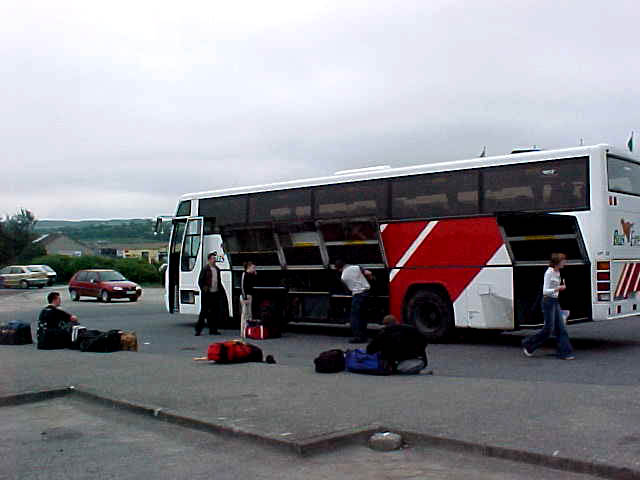 And when we were almost there: the bus rejected to continue and we all had to wait for another bus in Letterkenny.