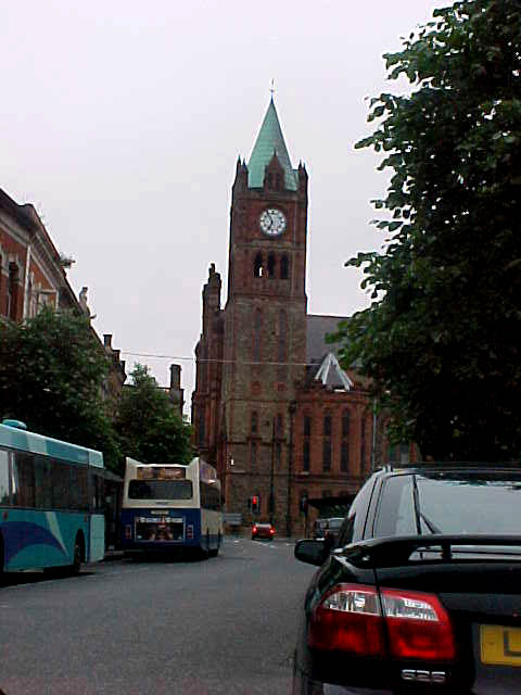 The only impression I got of the city (London)Derry, as seen from the Ulster Busstation.