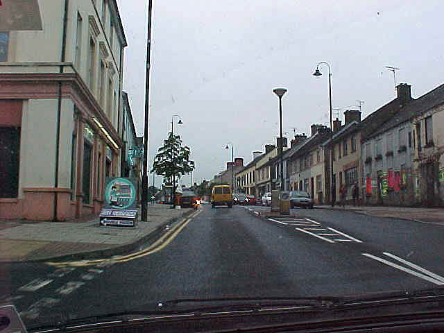 Driving into Dungiven, up to the castle.