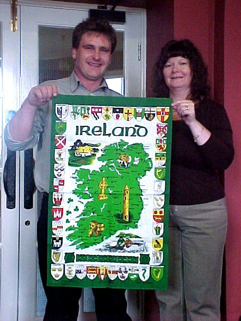 From Onno in Galway, the castle people received this original Irish culture flag.
