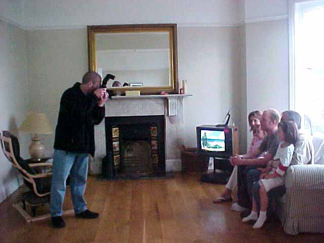 The Mourne Observer, covering the county Down in Northern Ireland, came by for an interview. Here the photographer shoots the family and me.