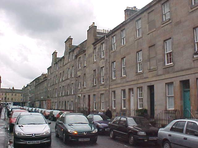 This is the street in Edinburgh New Town, where Mark lives on the top floor.