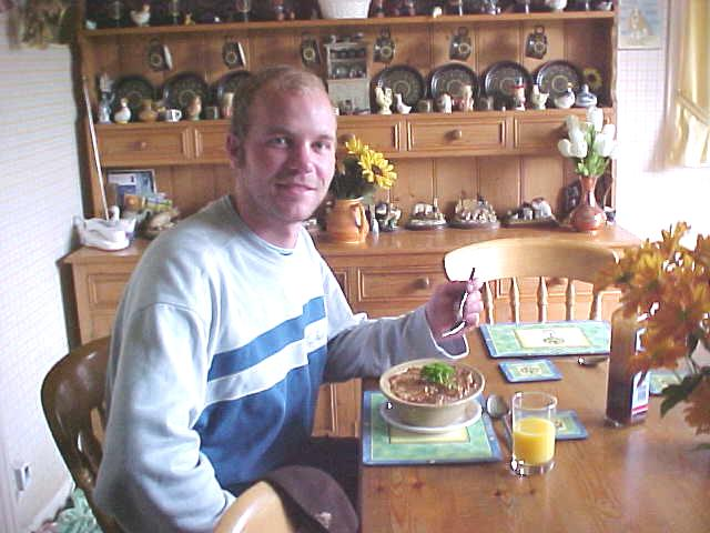 That is me in North Berwick, enjoying my first taste of a Scottish Pie.