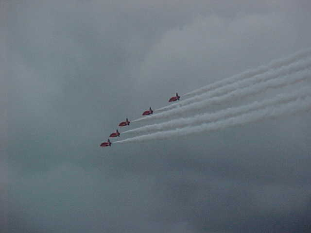 The famous RED ARROWS were even doing their show!