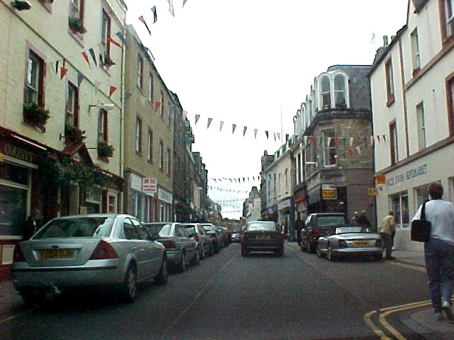 In the streets of North-Berwick
