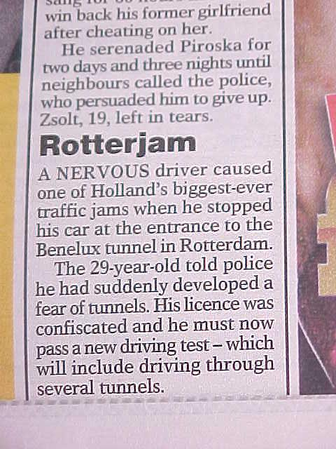 And in the bus I really laugh out loud about how we Dutch make headlines. Can anybody tell me how long this traffic jam REALLY was?