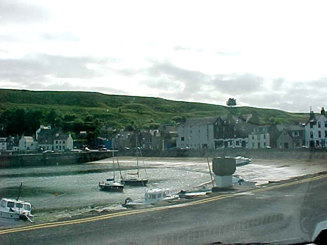 The view on the Stonehaven harbor...
