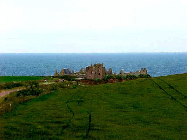 As far as we could get to the Dunnottar Castle at the coast...