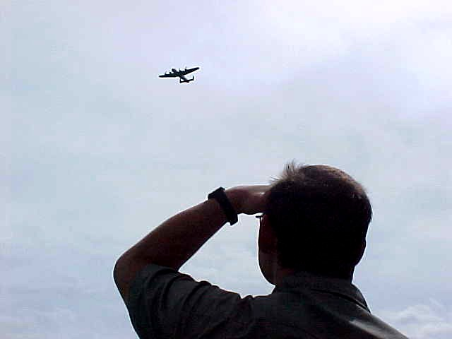 And as soon as a plane came over, Per looks up and knows all about the type...