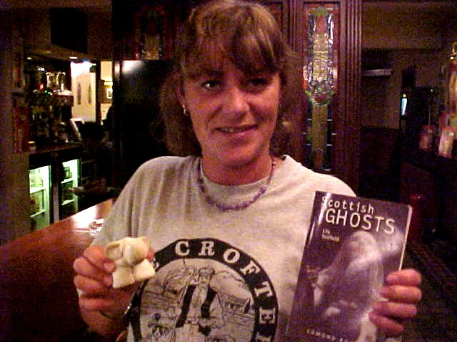Jakkie with Liam, the Inverness' Elephant, and the Scottish Gosts book.