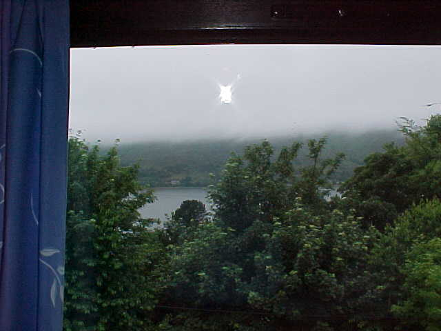 My rainy view from the B&B window...