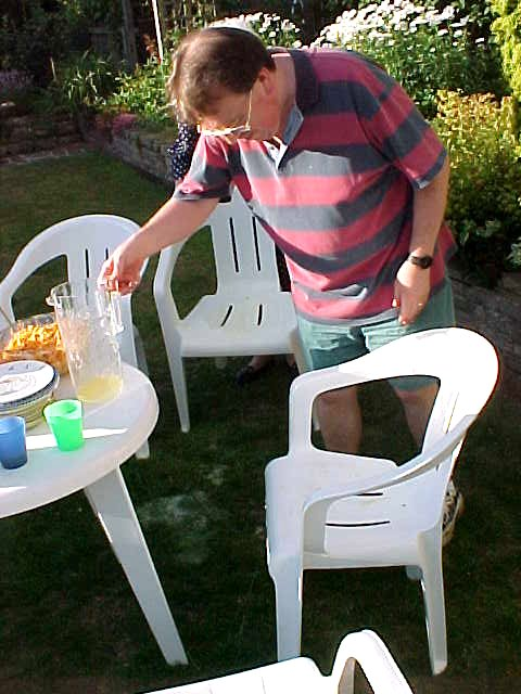 But who kicked over the full fizzy juice can off the table? Bad Ramon! (I got the sticky seat...)