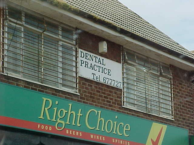 The dentist in Stockton, looks quite scary from the outside...