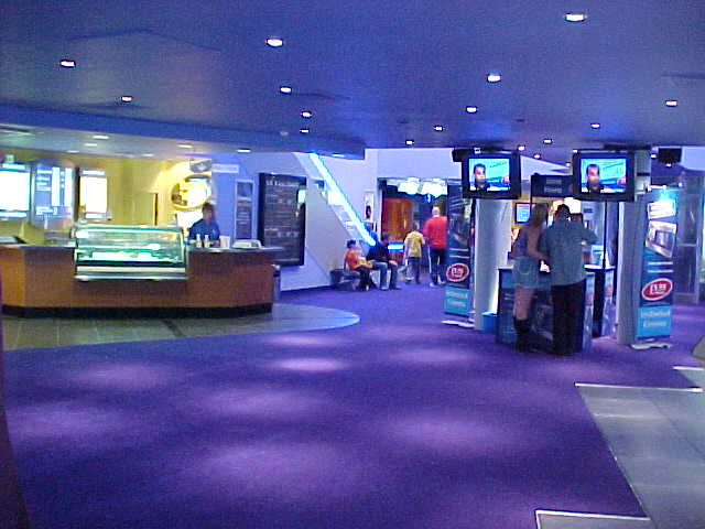 My only picture of the inside of this new cinema, my camera was taken off me because they were afraid I would record the complete movie on my 3.5 inch floppy disk... ha!