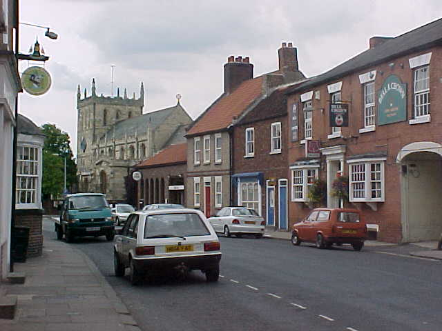 Entering Snaith city, a small village near Goole...