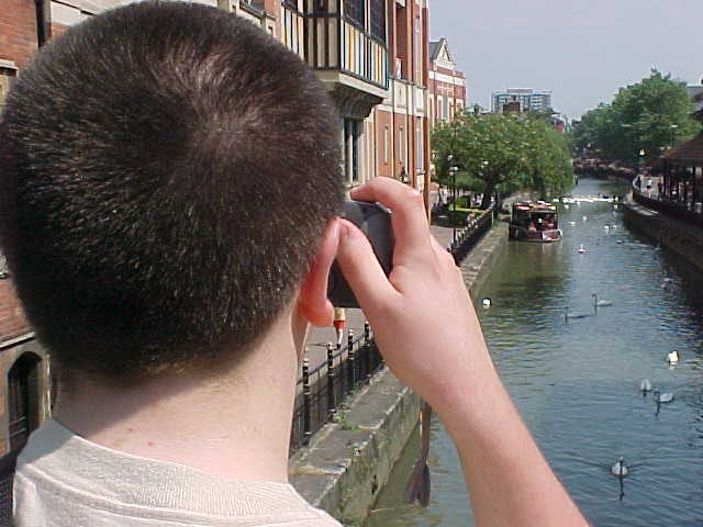 And of course he had to take a picture of this Amsterdam-like canal.