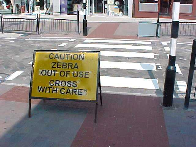 And Nottingham is not really known for funny road signs, but from today it will! Be very carefully!