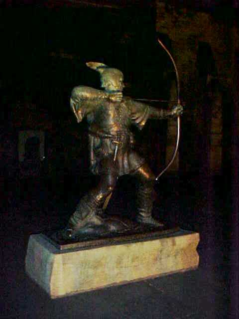 At night we had a drink in a pub and a walk around the historic area. Historic? Do you believe the story of Robin Hood?