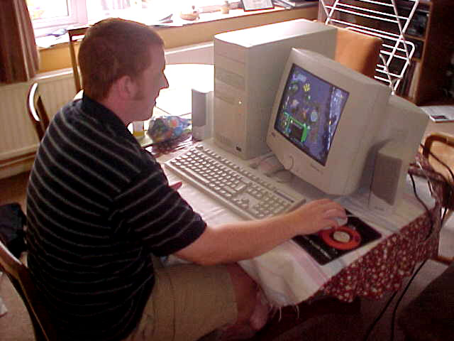 Nick likes to play the games on his sisters computer, he will not feel alone in this abandoned house.