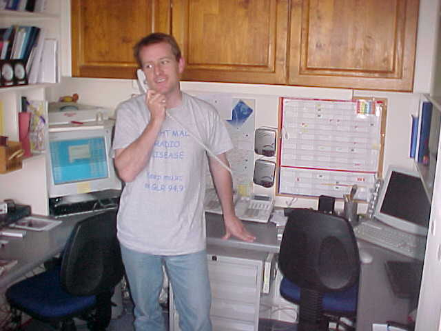 James Caroll in his home office...