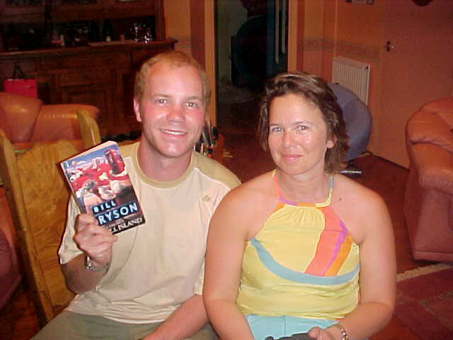 A shot of Galina and me, with Bill Brysons book!