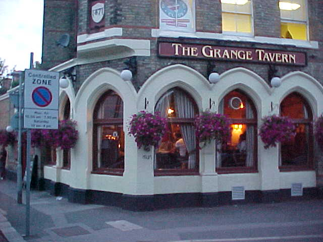The pub we visited, the Grange Tavern.