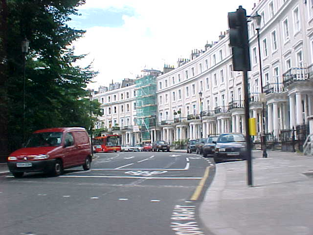 Notting Hill, London, world famous by the movie Notting Hill with Julia Roberts...