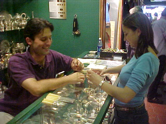 Dans brother Shawn works at a silver shop...