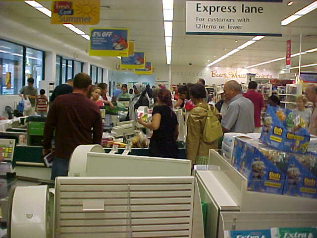 ...passing by the Tesco supermarket for some more shopping...