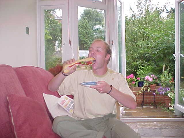 ...and ended up back at their home with a large sandwich.