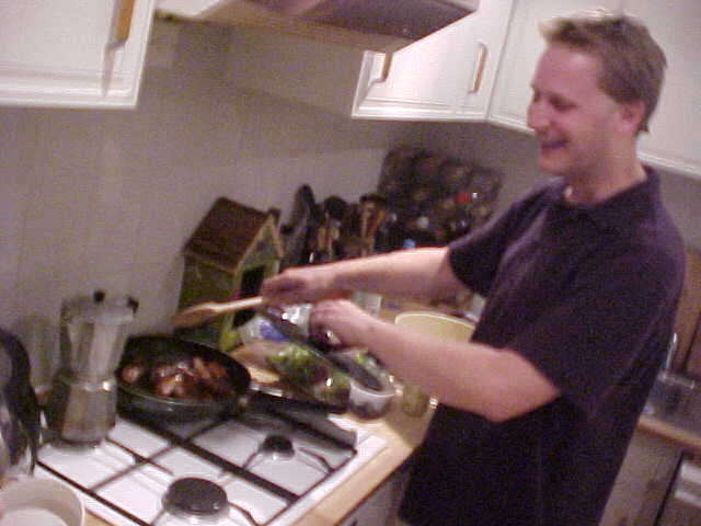 While Dan was preparing dinner...
