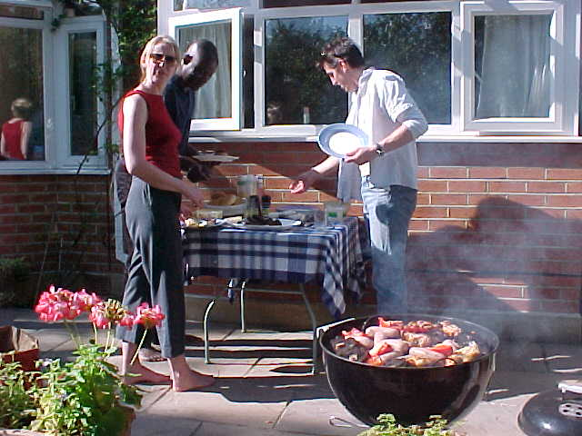 ... but of course also enjoying a good weather barbeque!
