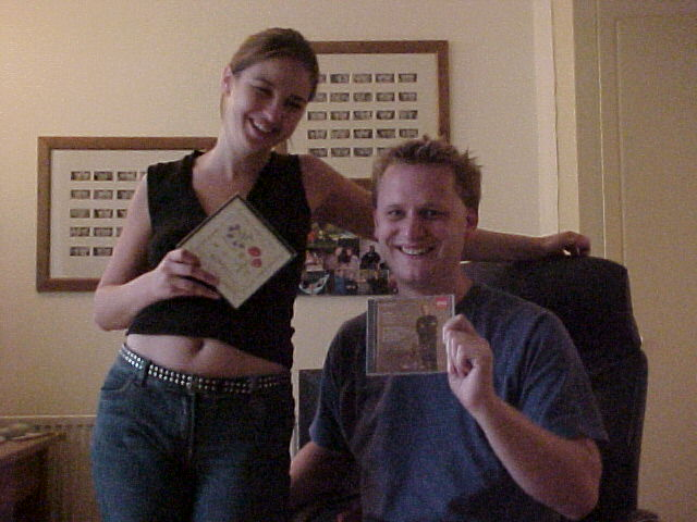 Today Karen and Dan received The Gift from the Raymond family in Maidenhead. Together with a box of nice cards, they enjoyed the relaxing art of classic music on the cd they also got.