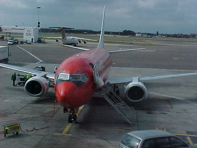 The plane I flew in to...