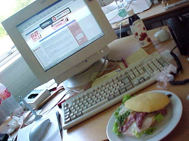 Online lunch? Thankfully I had a lot of spare time to update reports at the newsroom.