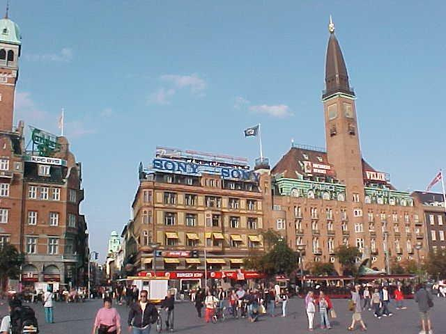 Rådhuspladsen, or in English, Town Hall Square in Copenhagen centre.