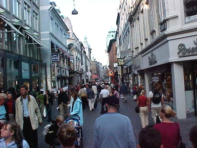 And the Strøget, the longest pedestrian mall on earth.