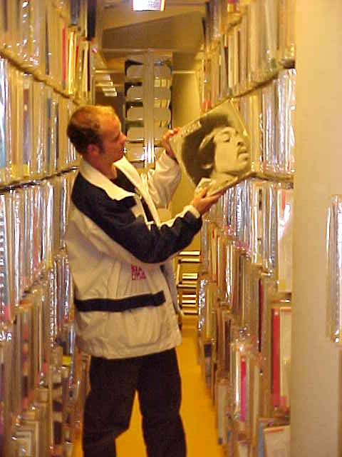 And in the basement, they have a L A R G E disc-o-theque where they collect all the records and cds sold in Denmark. Including rare Jimi Hendrix LPs!