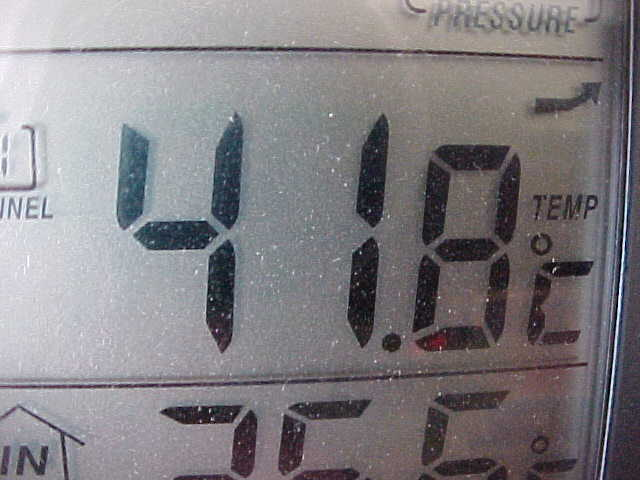 This was the temperature at 3.30pm, okay okay, in the sun... But imagine that it WAS hot! pfff