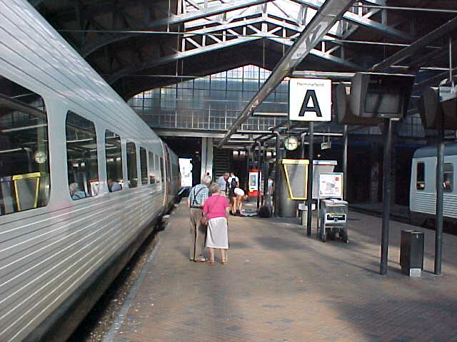 Arriving at the Århus train station...