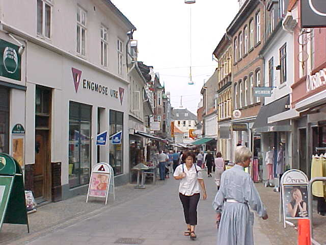 One of the many Aalborg shopping streets...