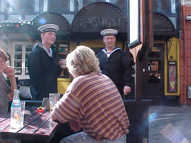 And with the Marine in the city, I saw a lot of sailors around!