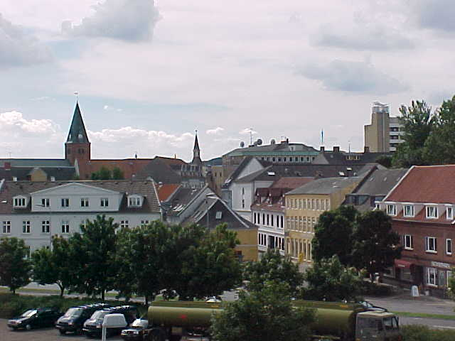 Quick shot of Aalborg from above the big Navy ship.