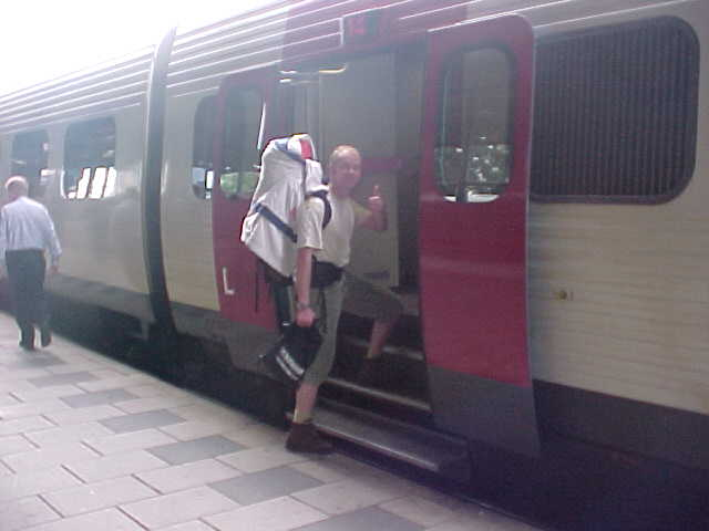 As Lisbet paid for the trainticket, here I am leaving Aalborg, heading to Vr�.