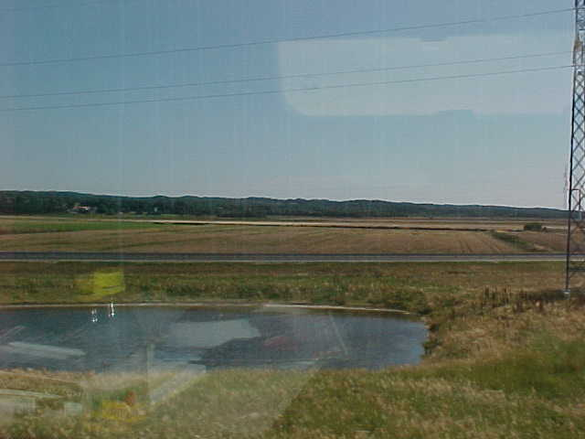 The Danish scenery from the train.