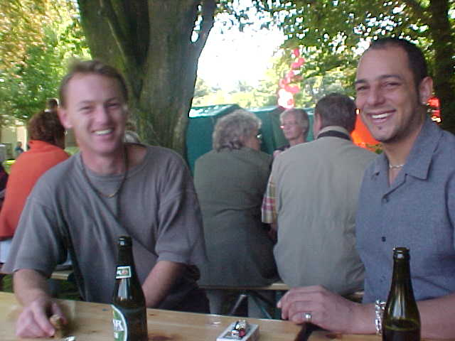 Meet Mark Mapstone at the left, with one of his English friends visiting over.