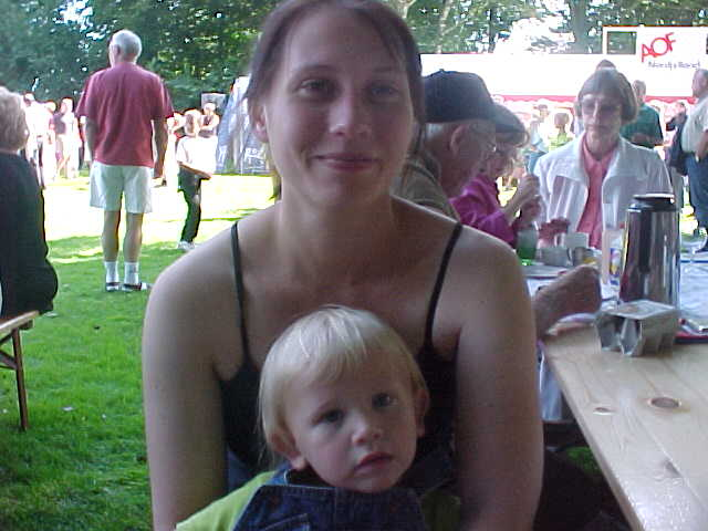 And my hostess Rikke Steen with Oliver.