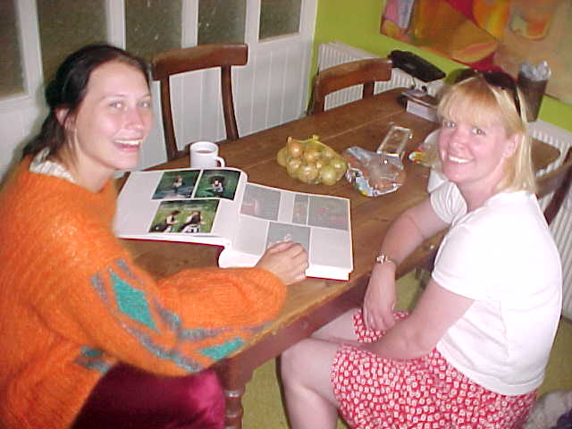 While Rikke and her English friend Miriam are scrolling through the family picture album.