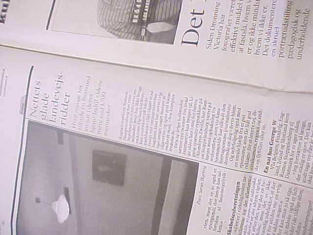 But I eventually arrived, much too early in Frederikshavn, where my boat would leave tonight at 6.30pm. I visited the local public library where I found out that the Danish newspaper Information had written one big column about my project!